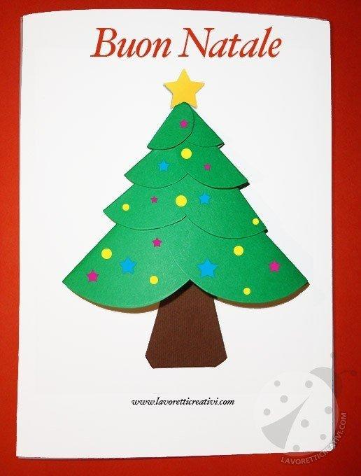 Lavoretti Biglietti Di Natale.Biglietto Di Natale Con Cerchi Di Carta Lavoretti Creativi