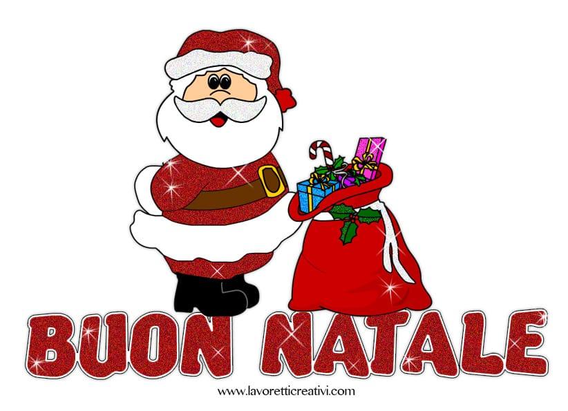 Scritta Buon Natale glitter