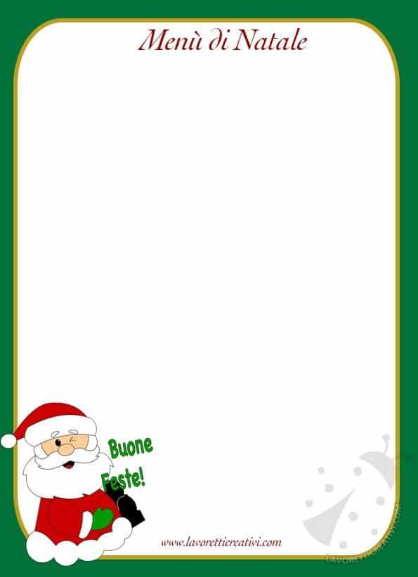 Menù di Natale stampabili