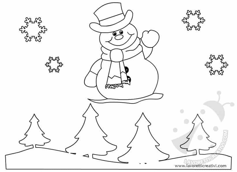 sagoma pupazzo di neve
