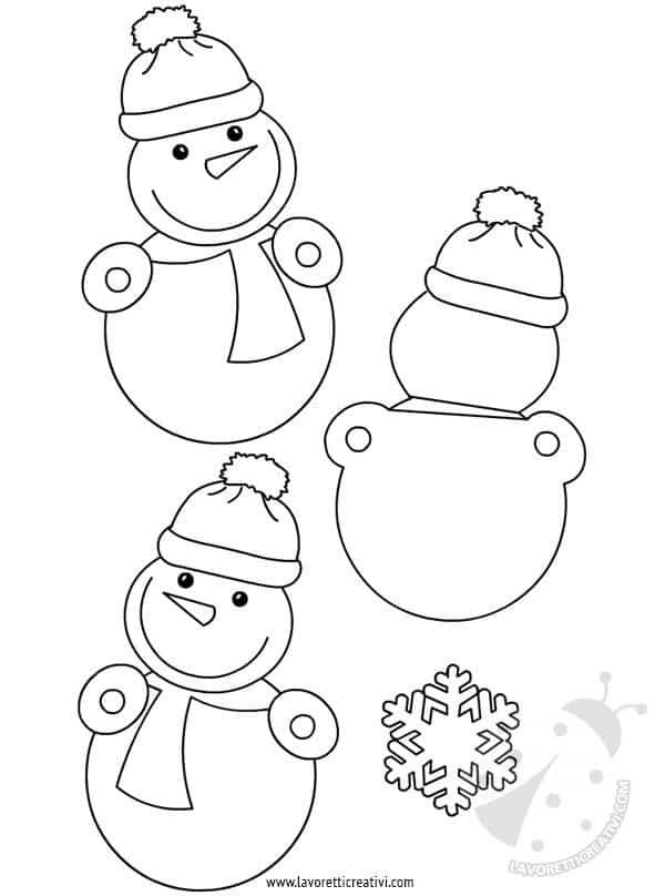 Addobbi invernali scuola pupazzi di neve lavoretti creativi for Addobbi finestre natale scuola infanzia