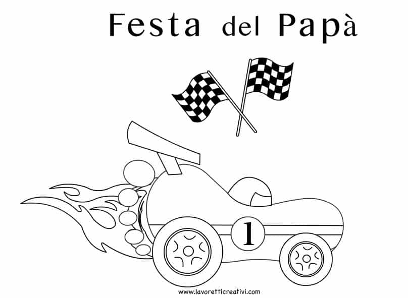 festa-papa-macchina-corsa