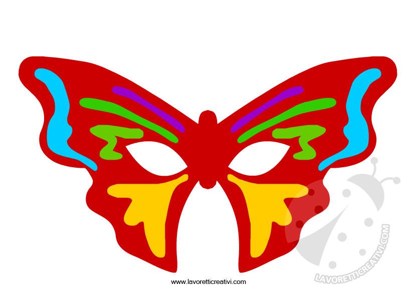 Maschere di Carnevale a forma di farfalla