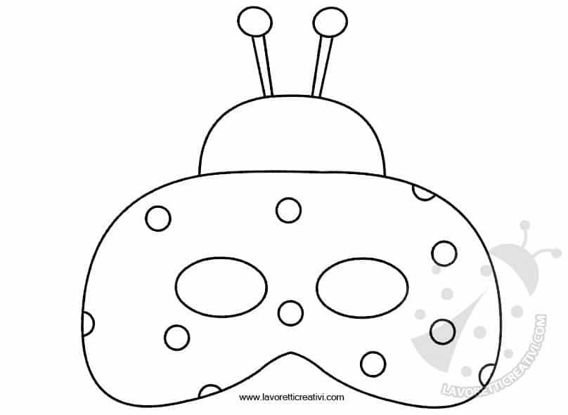 Maschere Carnevale Per Bambini Coccinella Lavoretti Creativi