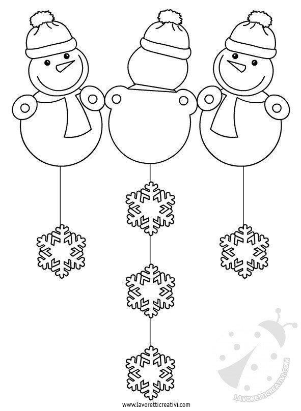 Addobbi invernali scuola pupazzi di neve lavoretti for Addobbi finestre natale scuola infanzia