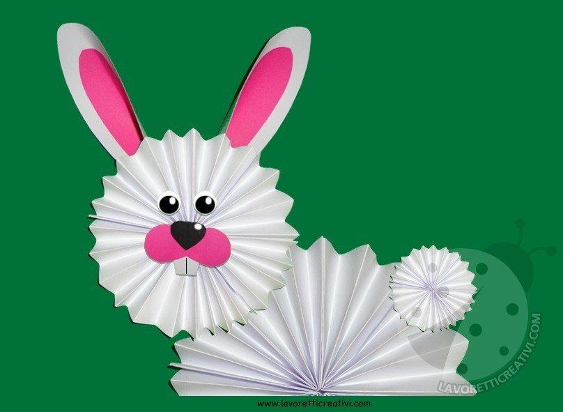 Addobbi di Pasqua - Coniglio a fisarmonica