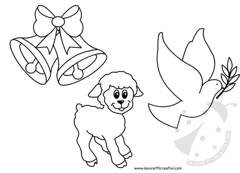 Disegni di pasqua da stampare e colorare lavoretti creativi for Disegni da colorare di pasqua