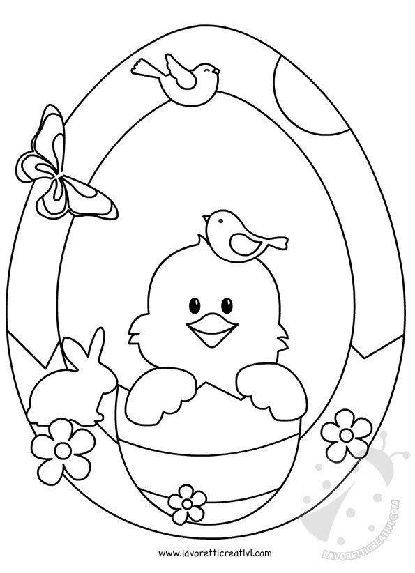 Addobbi Di Pasqua Per Bambini Ghirlanda Con Pulcino Lavoretti