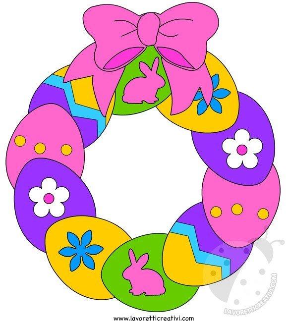 Addobbi Pasqua Ghirlanda Di Pasqua Per Bambini Lavoretti Creativi