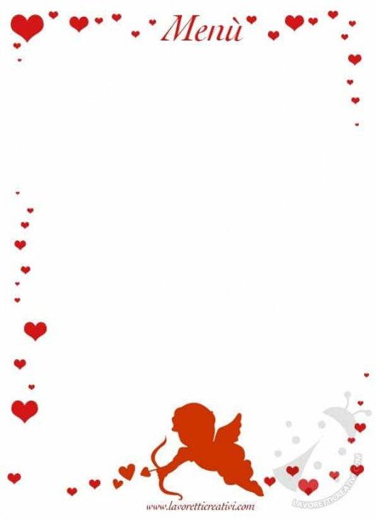 Menu Di Natale Da Stampare E Compilare.Menu Di San Valentino Modelli Da Stampare Lavoretti Creativi