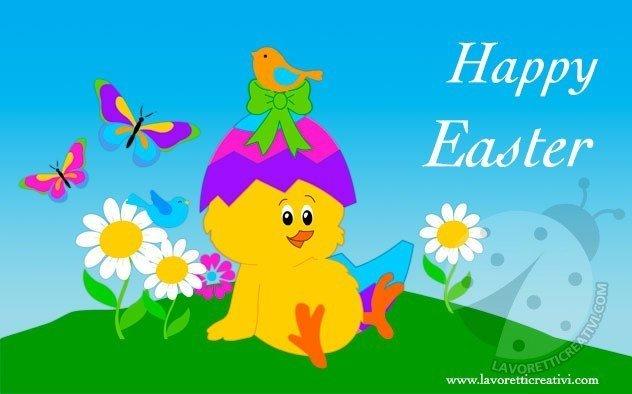 Cartoline Pasqua per WhatsApp e Facebook