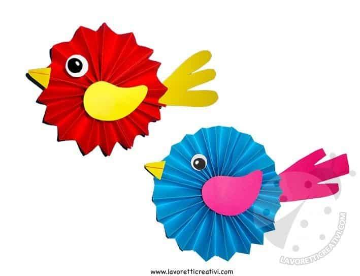 Addobbi Primavera Uccellini A Fisarmonica Lavoretti Creativi