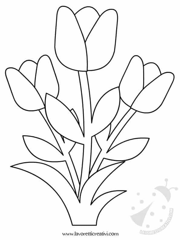Decorazioni primavera con fiori lavoretti creativi for Colorare le rose