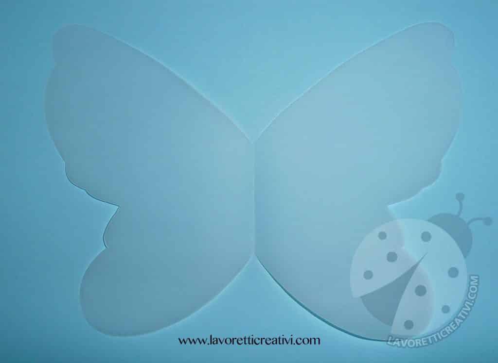 Farfalla 3D di carta
