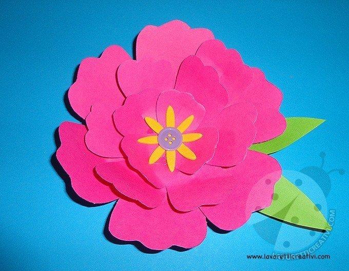 Come fare fiori di carta for Fiori semplici