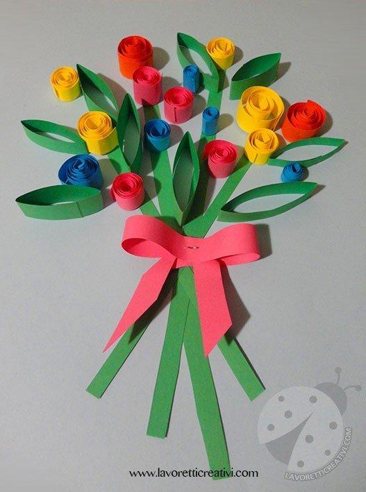 Lavoretto semplice per la festa della mamma for Fiori da disegnare facili