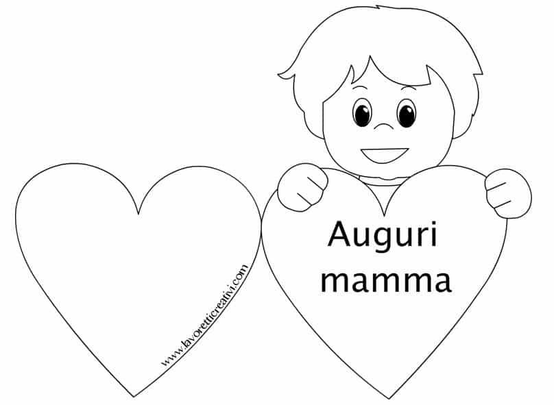 Biglietti Per La Festa Della Mamma Con Cuore Lavoretti Creativi