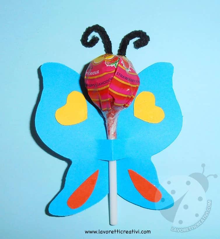 Farfalle con chupa chups per fine anno scolastico