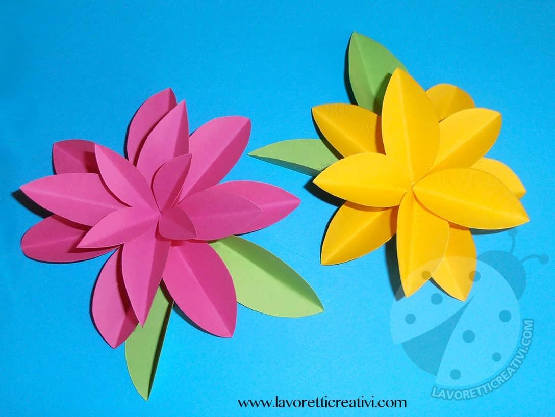 Come realizzare fiori di carta for Fiori di cartoncino