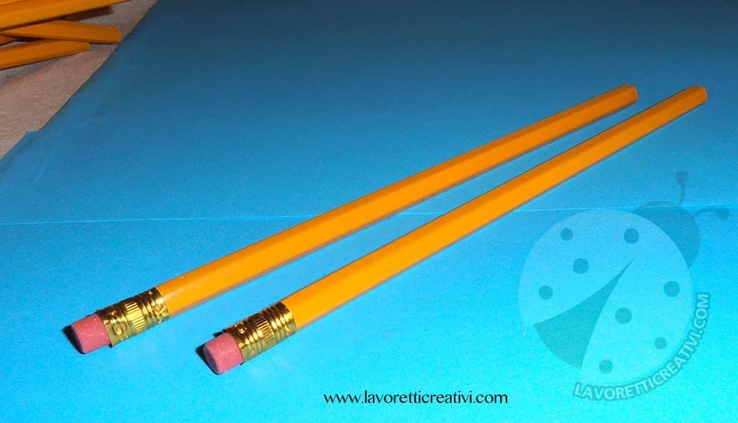 Lavoretti di fine anno scolastico con le matite