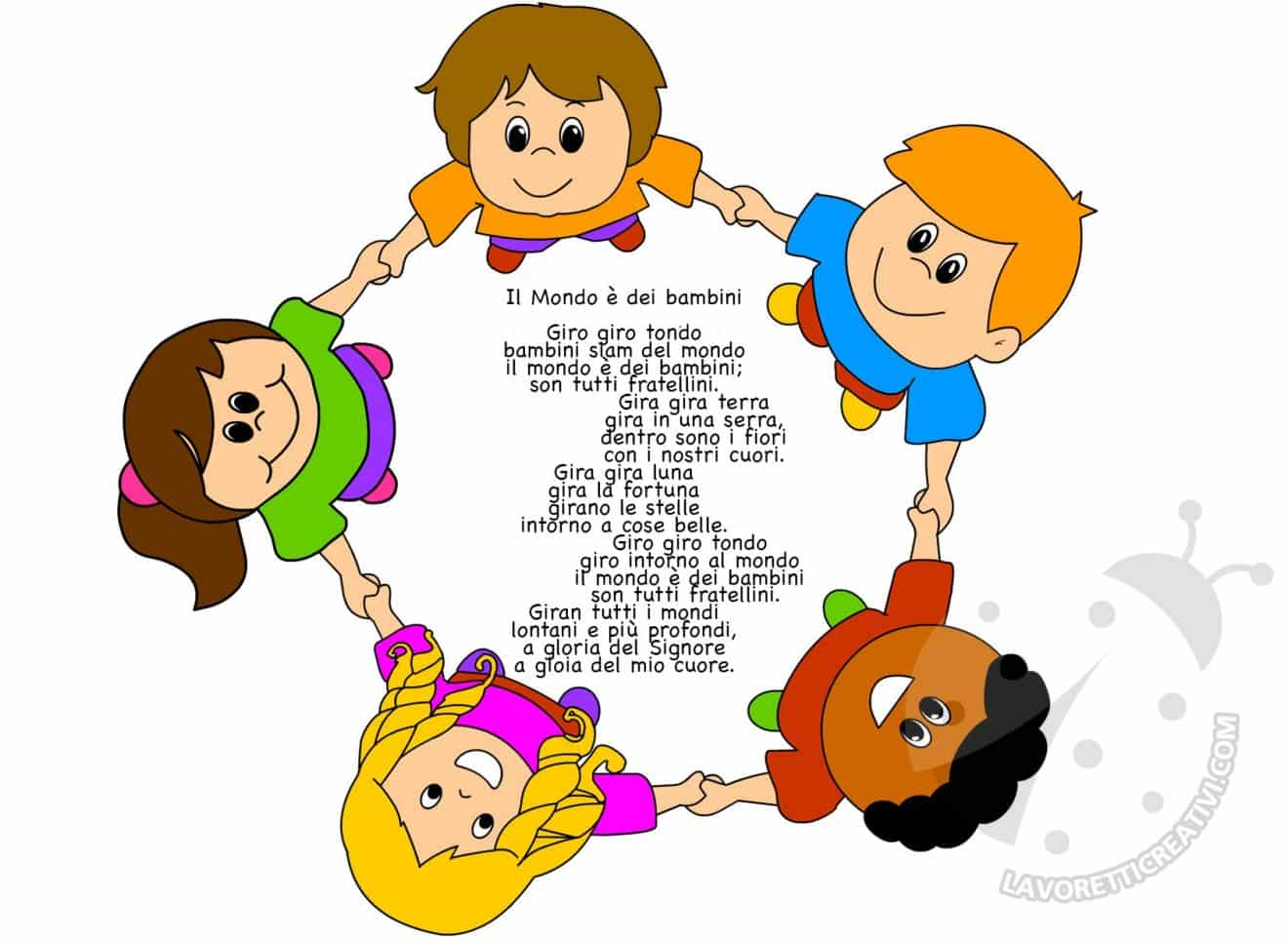 Filastrocche per l 39 accoglienza dei bambini lavoretti for Lavoretti creativi accoglienza
