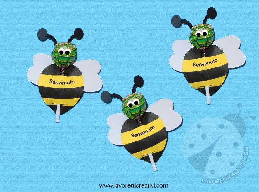 Lavoretti accoglienza api con chupa chups lavoretti creativi for Idee per l accoglienza nella scuola dell infanzia
