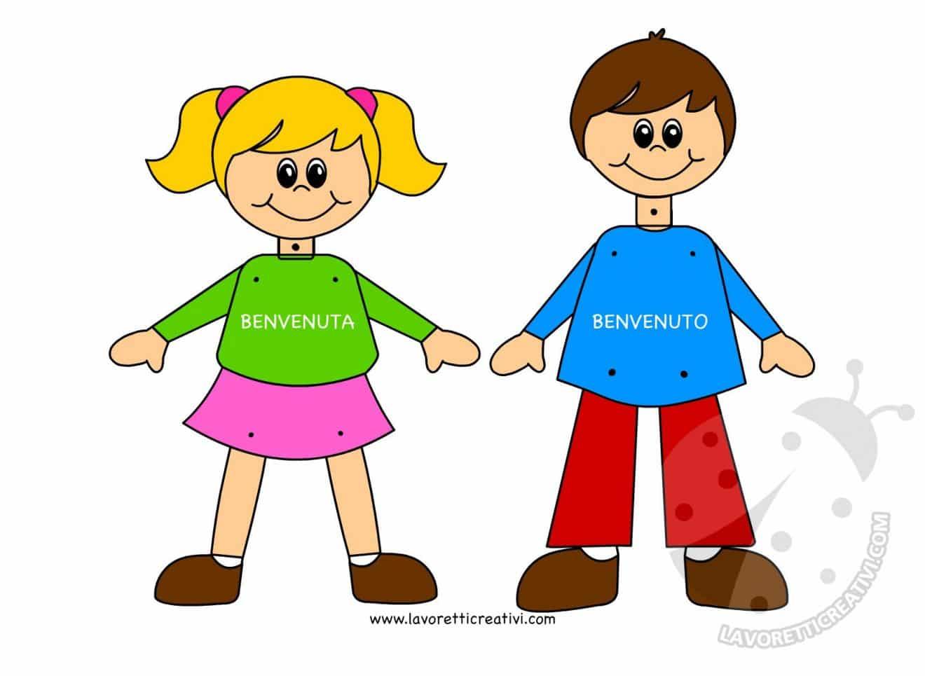 Accoglienza scuola bambino con fermacampioni lavoretti for Lavoretti creativi accoglienza