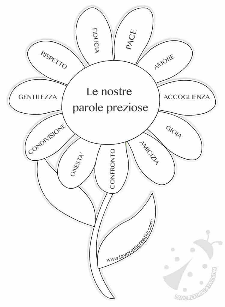 Fiore con le parole preziose