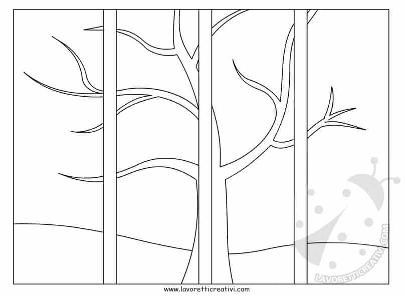 Quattro stagioni lavoretti per bambini della scuola for Foto di alberi da colorare