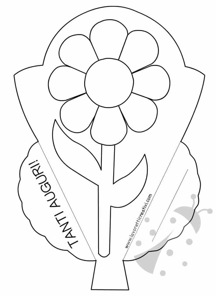 biglietto a forma di fiore