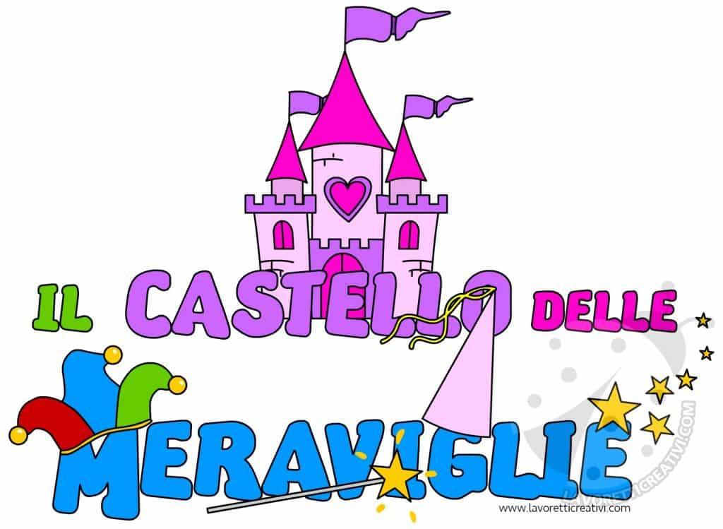 Scritta Il castello delle meraviglie da stampare