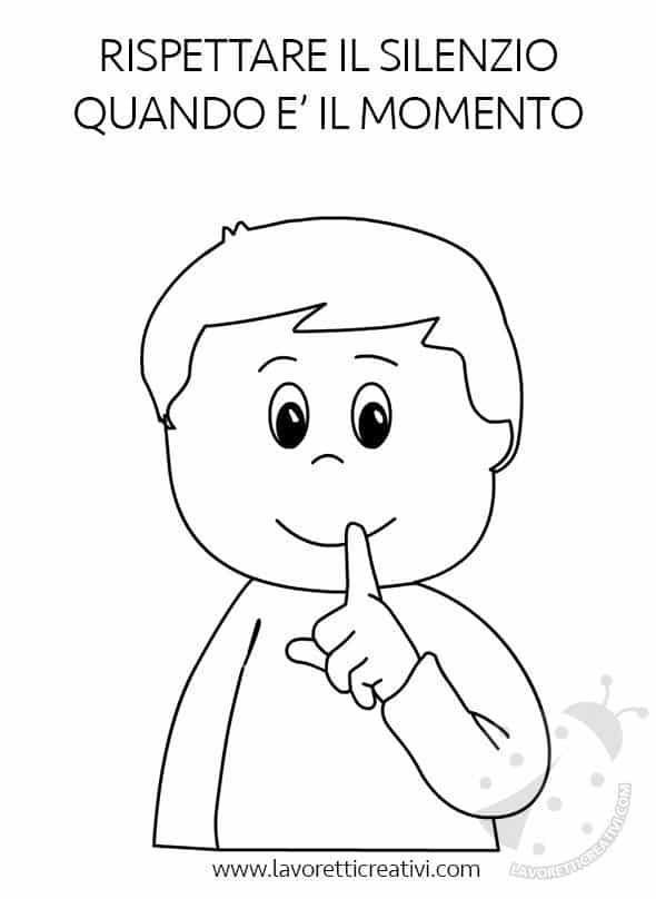 Regole da rispettare in classe con disegni da colorare for Disegni di angeli da colorare per bambini