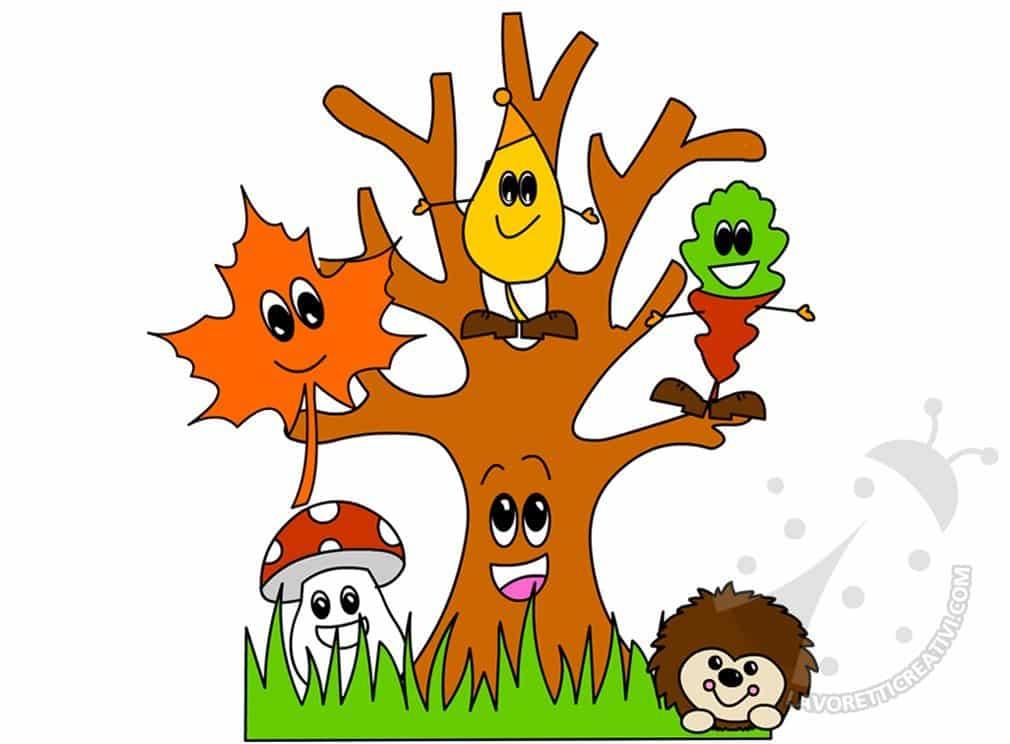 L'Autunno disegno per bambini da colorare