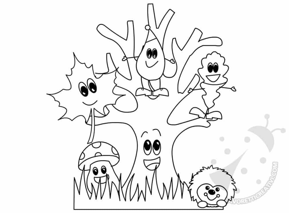 l 39 autunno disegno per bambini da colorare lavoretti creativi