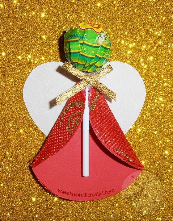 Angelo di Natale con chupa chups
