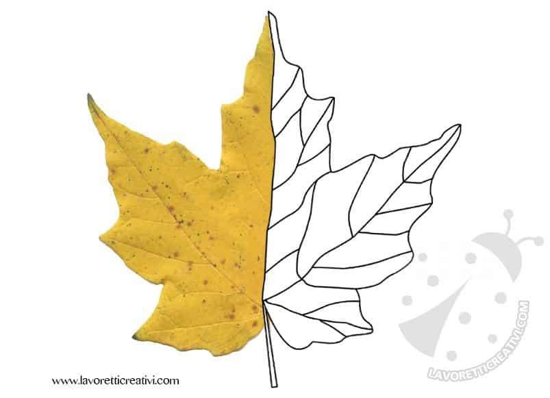Idea per un lavoretto creativo con le foglie