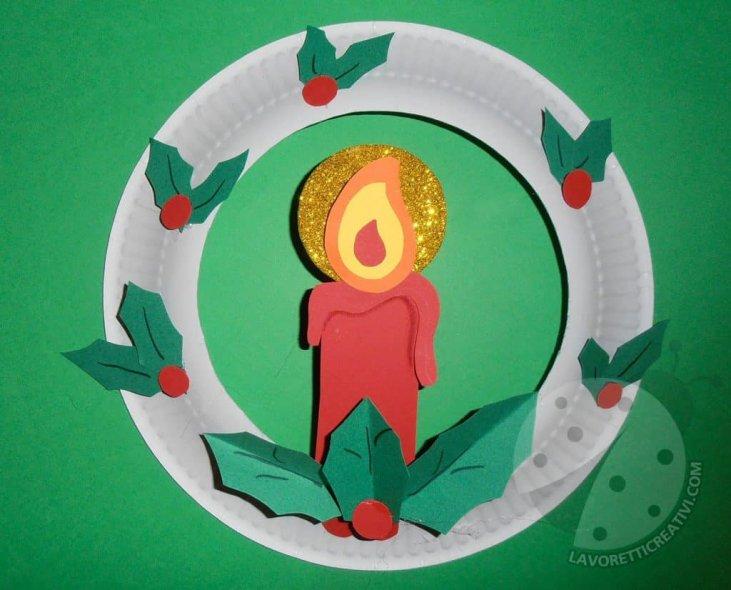 Lavoretti Di Natale Con Piatti Di Plastica.Ghirlanda Di Natale Con Piatto Di Carta Lavoretti Creativi