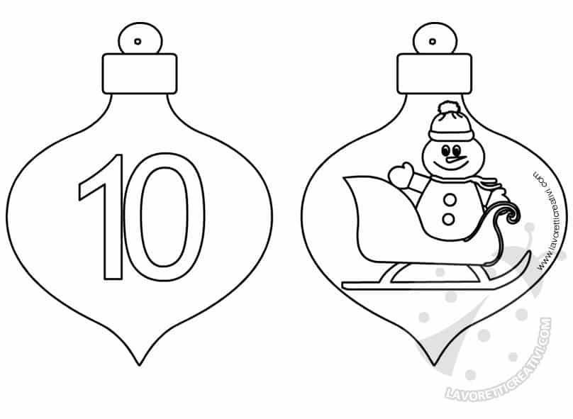 Calendario Avvento palline 9 e 10