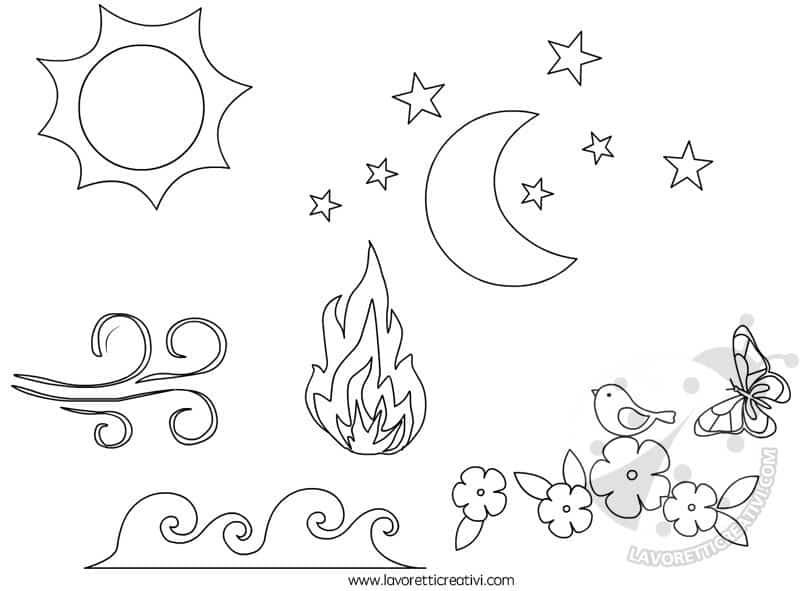 Cartellone il cantico delle creature di san francesco for Sole disegno da colorare