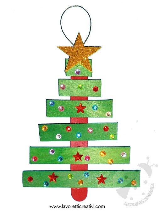 Lavoretti Di Natale Con I Bastoncini Del Gelato.Albero Di Natale Con Bastoncini Del Gelato Lavoretti Creativi