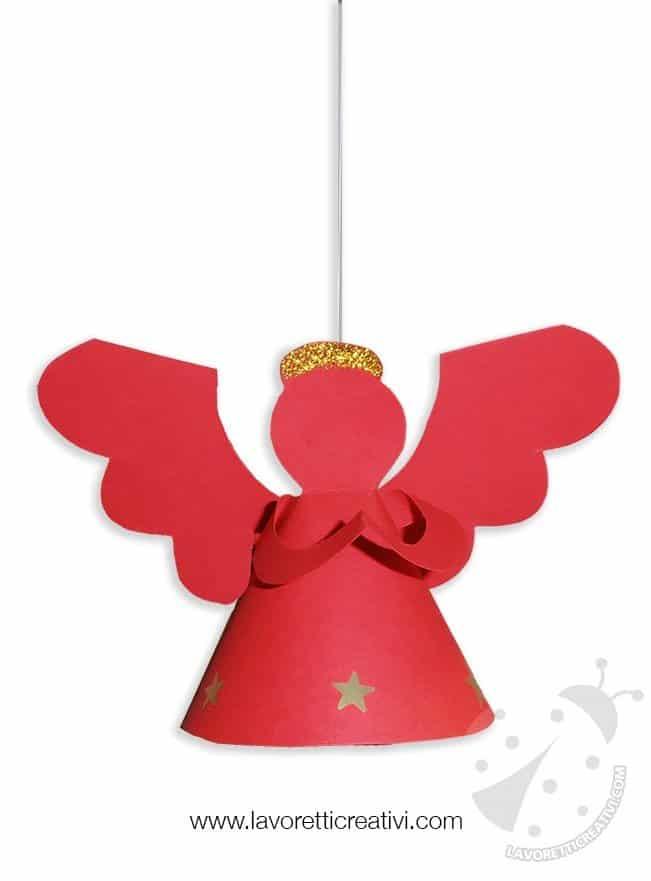 Decorazioni Natale Angelo 3D da appendere