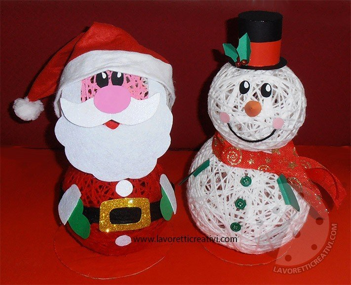 Come Fare I Lavoretti Di Natale.Come Realizzare Un Babbo Natale Con Palline Di Lana E Colla Lavoretti Creativi