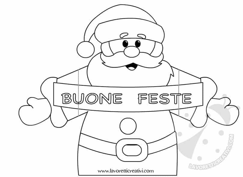Biglietto pop up di Natale con Babbo Natale