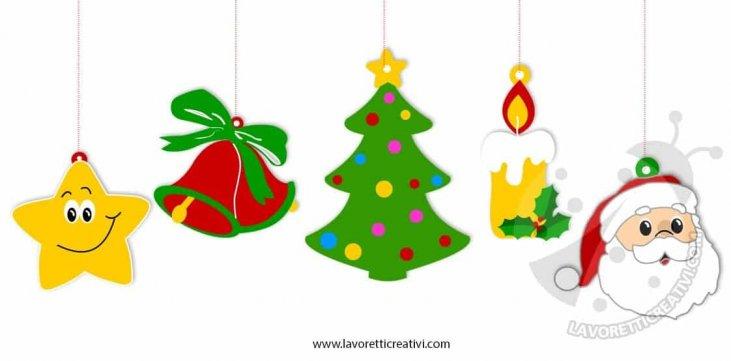 Disegni Di Natale Stampa E Colora.Addobbi Di Natale Per Bambini Da Stampare E Colorare Lavoretti