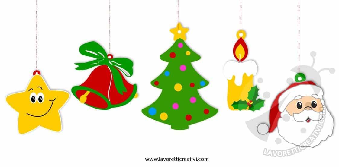 Addobbi di natale per bambini da stampare e colorare - Babbo natale porta i regali ai bambini ...