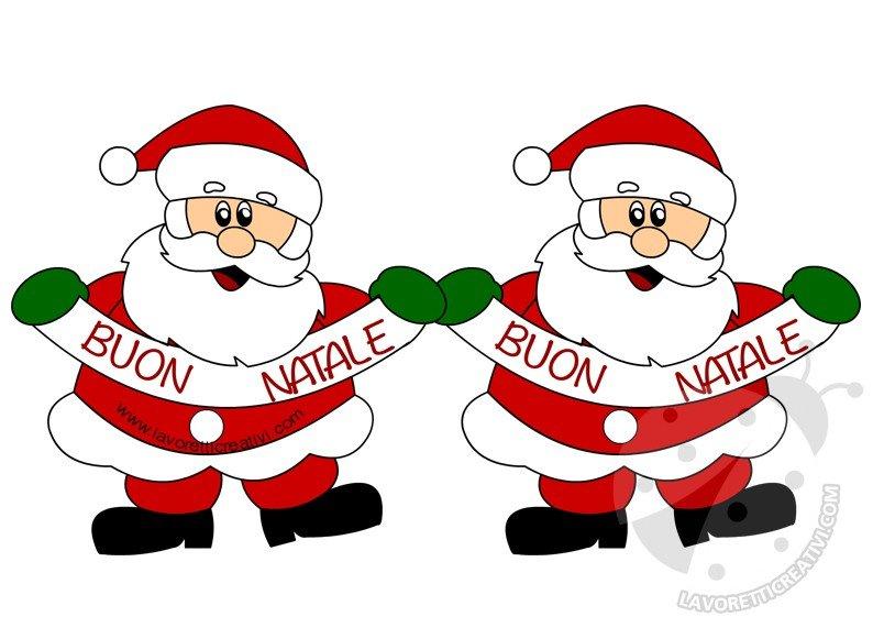Immagini Con Scritte Di Buon Natale.Festone Natalizio Con Babbo Natale E La Scritta Buon Natale
