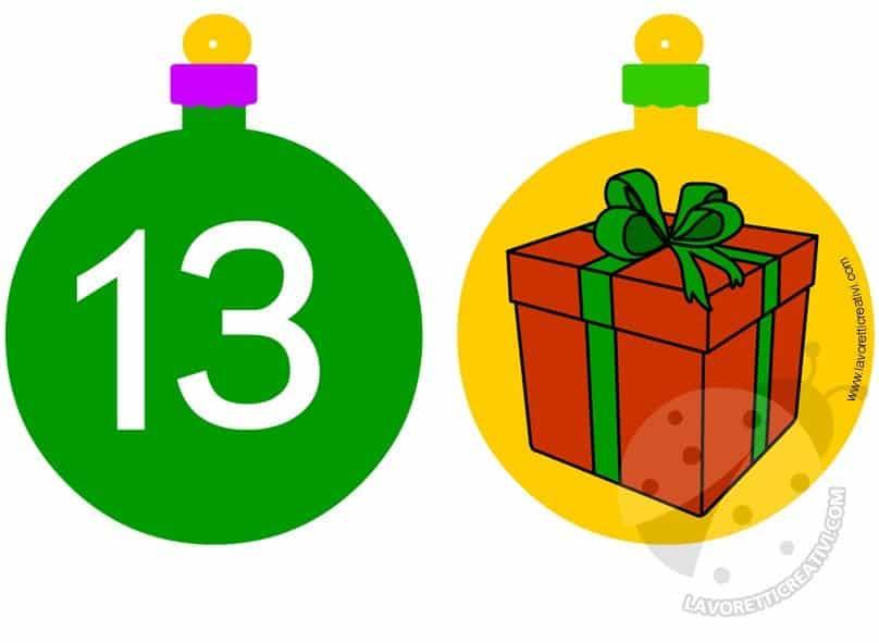 Calendario Avvento Palline 13 e 14