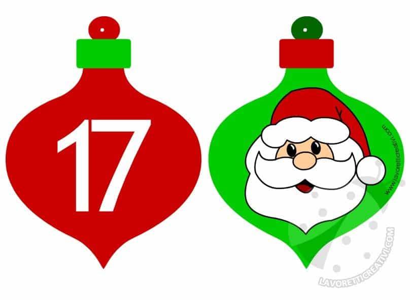 Palline 17 e 18 del Calendario dell'Avvento