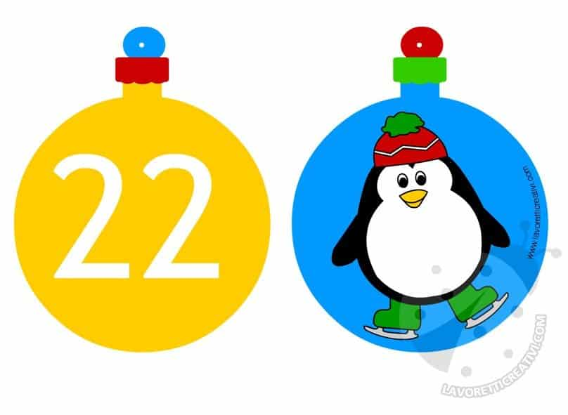 Calendario Avvento Palline 21 e 22