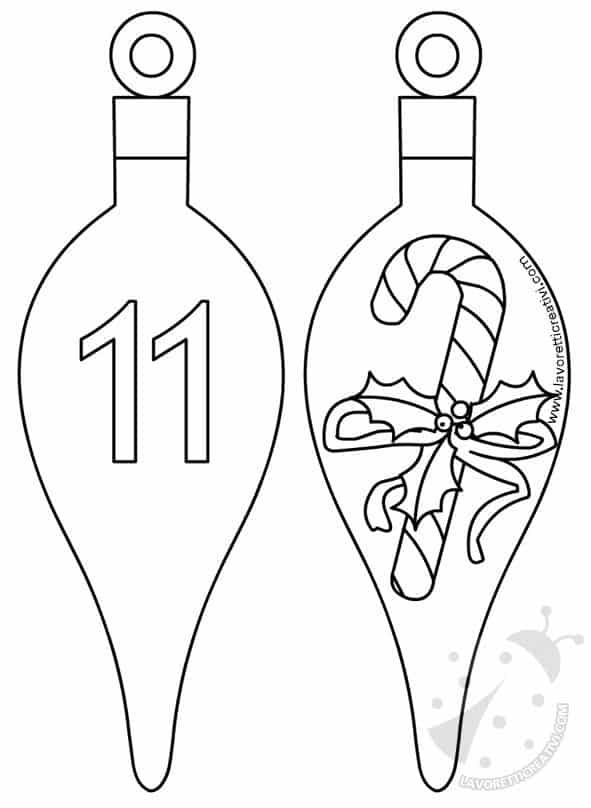 Calendario Avvento Palline 11 e 12 da stampare